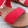 Красные босоножки шлепки тапки женские сандалии на резинке червоні босоніжки шльопанці тапки сандалі, фото 5