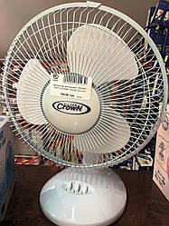 """Вентилятор настольний """"CROWN"""" USDF-630 (60Вт, d23см) 2шт в уп."""