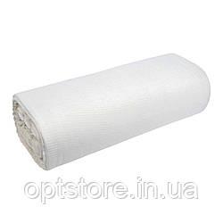 Полотенечная тканина біла вафельна однотонна