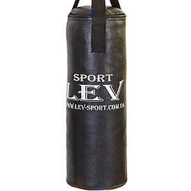 Детский боксерский мешок кирза, боксерский мешок для детей 0,65см, d=28см, вес 8-10кг с креплением, черный