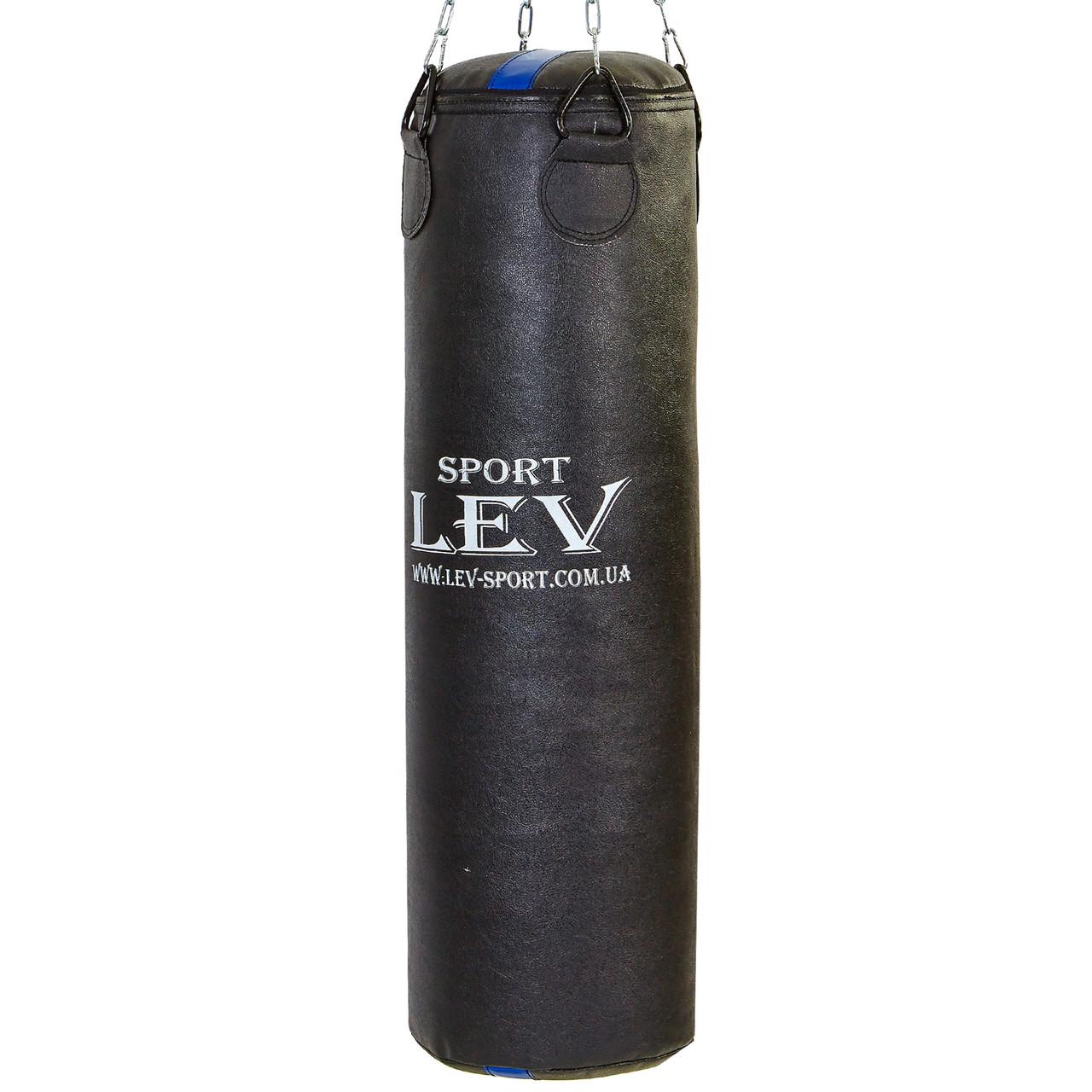Боксерская груша (мешок) для взрослых и подростка кирза 1 м, d=30см, вес 25-28кг без креплений, черный