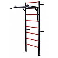 Металлическая Шведская стенка Турник-Брусья, спортивный уголок для детей и взрослых до 120 кг