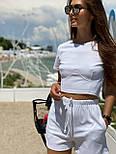 Женский костюм повседневный рубчик рибана: топ и шорты (в расцветках), фото 5