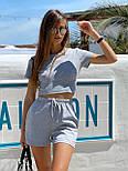 Женский костюм повседневный рубчик рибана: топ и шорты (в расцветках), фото 8