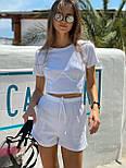 Женский костюм повседневный рубчик рибана: топ и шорты (в расцветках), фото 9