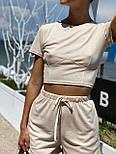Женский костюм повседневный рубчик рибана: топ и шорты (в расцветках), фото 7