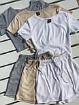 Женский костюм повседневный рубчик рибана: топ и шорты (в расцветках), фото 10