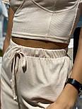 Женский костюм повседневный рубчик рибана: топ и шорты (в расцветках), фото 4