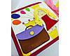 Именная детская Развивающая Mягкая Книжка из Фетра, фото 3