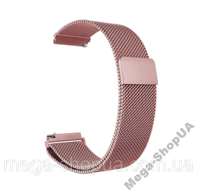 Ремешок металлический 18 мм Milanese Magnetic миланская петля для часов шириной Розовый