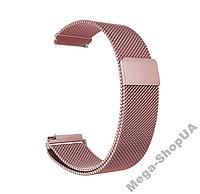 Ремешок металлический 18 мм Milanese Magnetic миланская петля для часов шириной Розовый, фото 1