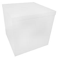 Коробка-сюрприз 70*70*70см двухсторонняя белая, 1 шт