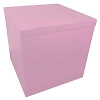 Коробка-сюрприз 70*70*70см двухсторонняя розовая, 1 шт