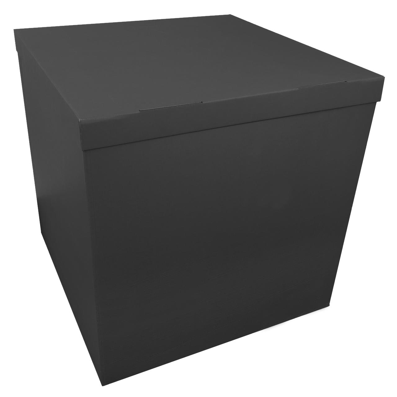 Коробка-сюрприз 70*70*70см двухсторонняя черная, 1 шт