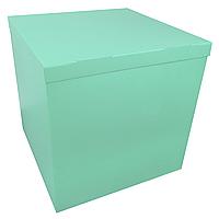 Коробка-сюрприз 70*70*70см двухсторонняя мятная, 1 шт, фото 1