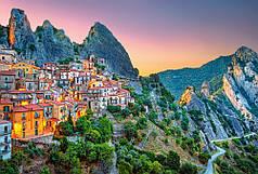 Пазлы Восход солнца над Кастельмедзано, Италия на 1500 элементов