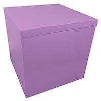 Коробка-сюрприз 70*70*70см двухсторонняя сиреневая, 1 шт