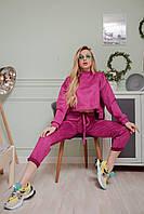 Модный замшевый спортивный костюм в большой цветовой гамме