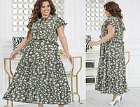Красивое женское платье батал