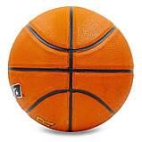 Мяч баскетбольный резиновый №7 LANHUA Super soft (резина, бутил, оранжевый)  F2304, фото 3