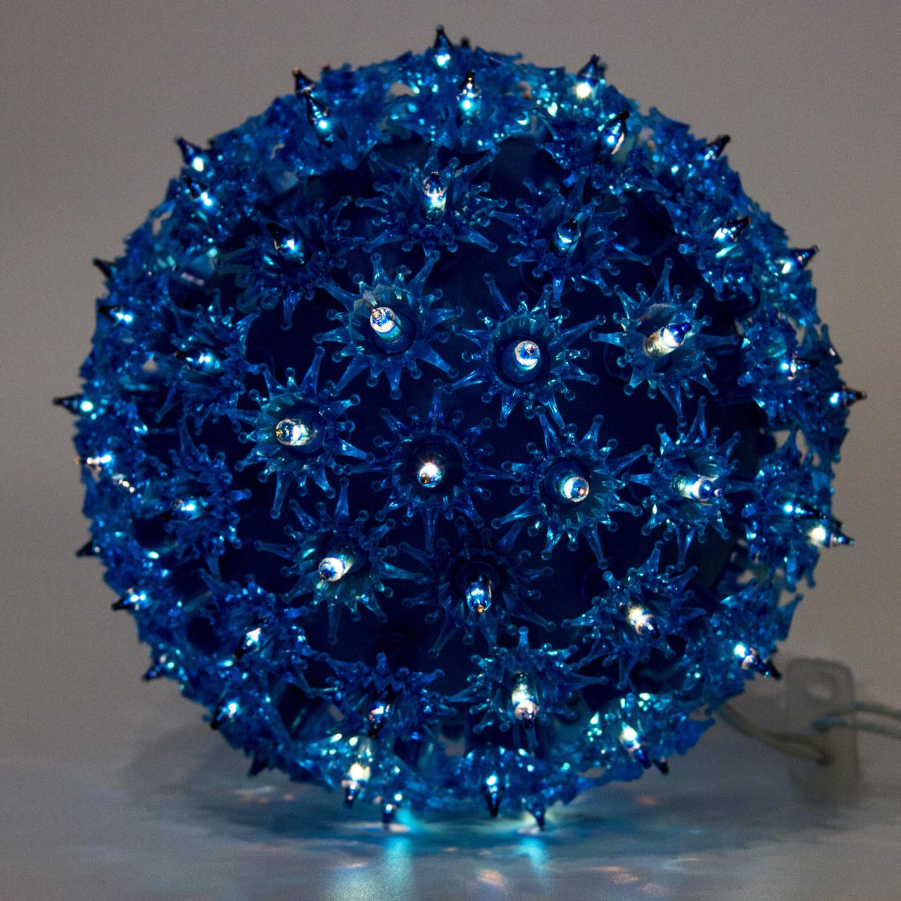 Светодиодная гирлянда висящий шар 18см 100Л голубая (050482)