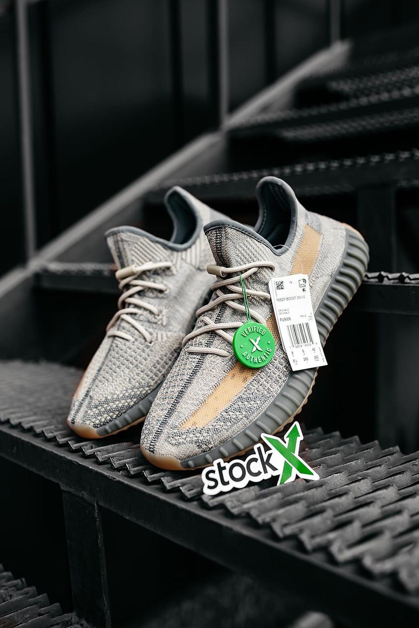 Женские серые Кроссовки Adidas Yeezy Boost 350