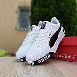 Мужские кроссовки в стиле  Puma Cali белые с чёрным, фото 4
