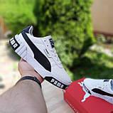 Мужские кроссовки в стиле  Puma Cali белые с чёрным, фото 5