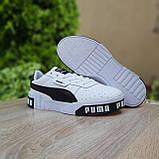 Мужские кроссовки в стиле  Puma Cali белые с чёрным, фото 6