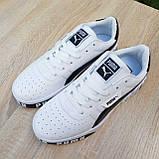 Мужские кроссовки в стиле  Puma Cali белые с чёрным, фото 8