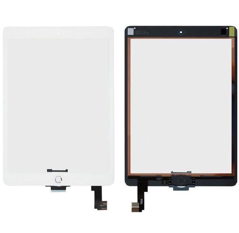 Сенсор (тачскрин) Apple iPad Air 2 (A1566, A1567, полный комплект с кнопкой Home) White