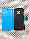 Чехол - книжка Xiaomi Redmi Note 9s / 9 Pro с силиконовым бампером и отделением для карточек Цвет голубой, фото 4