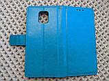 Чехол - книжка Xiaomi Redmi Note 9s / 9 Pro с силиконовым бампером и отделением для карточек Цвет голубой, фото 5