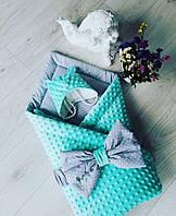 Одеяло конвер пледик для ребенка в кроватку