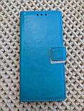 Чехол - книжка Xiaomi Redmi Note 9s / 9 Pro с силиконовым бампером и отделением для карточек Цвет голубой, фото 2