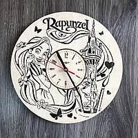 Детские круглые бесшумные настенные часы 7Arts Рапунцель CL-0307, КОД: 1474458