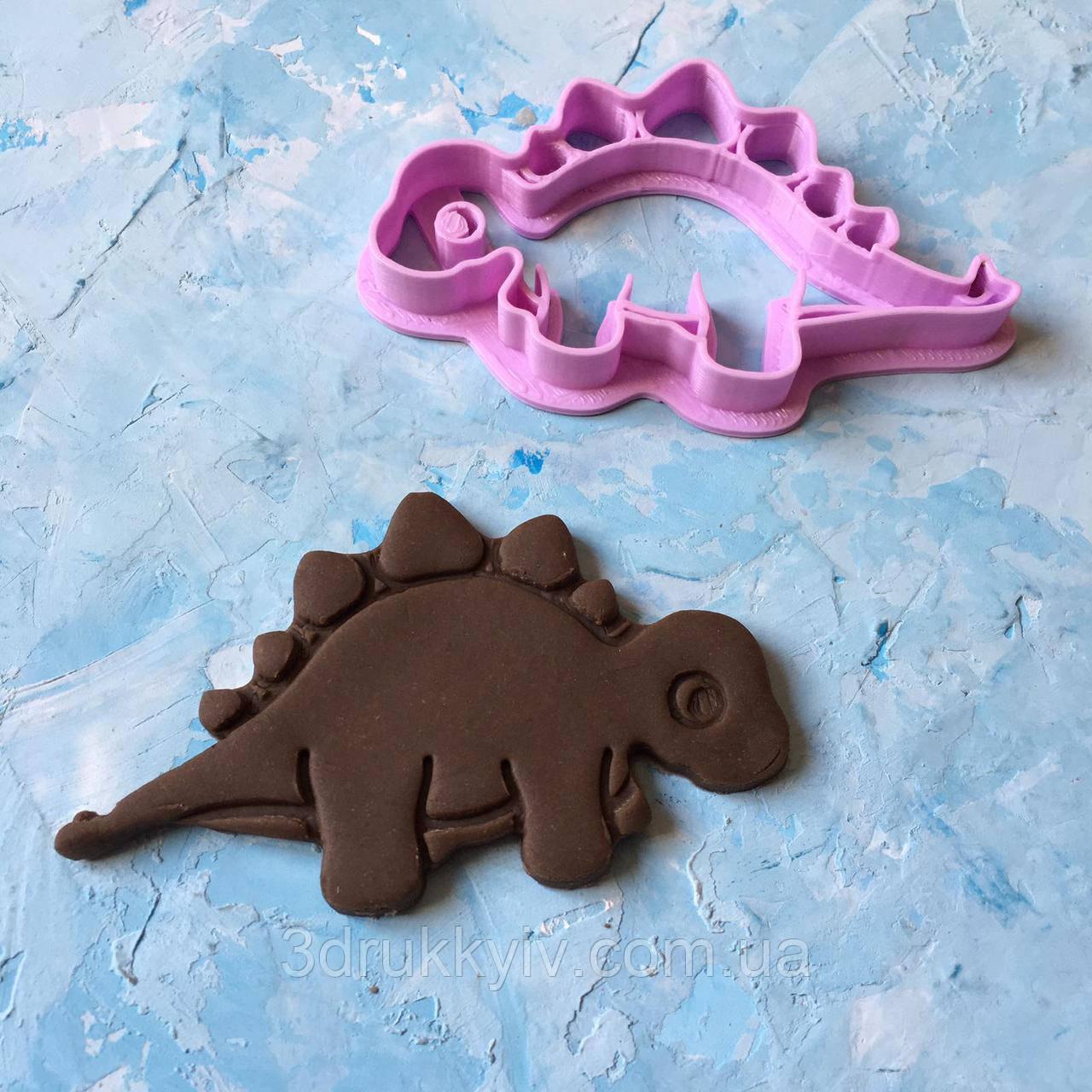 """Вирубка зі штампом """"Динозавр #5"""" / Вырубки - формочки для пряников со штампом"""