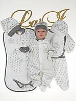 """Летний набор для новорожденного мальчика """"Версаль""""  (8 предметов)"""