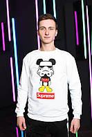 Белый свитшот в стиле Supreme star wars clone mickey mouse | кофта стильная
