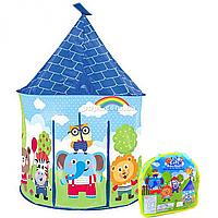 Детская игровая палатка домик «Крутые животные» 93х93х135 см (X003-B)