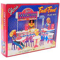 Детская игрушечная мебель Глория Gloria для кукол Барби Fast-Food. Обустройте кукольный домик (96008)