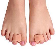 Корректоры(сепараторы) косточек на ногах (вальгус-корректор) на 1 палец с перепонкой (беж)