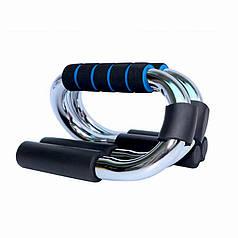 Упоры для отжиманий от пола Dobetters DBT-JF45 Blue + Black мышц груди пресса