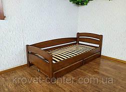 """Односпальне дерев'яне ліжко з ящиками від виробника """"Березня"""", фото 3"""