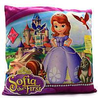 Подушка детская KinderToys «Принцесса София» 43х43х10 см (24970-1)