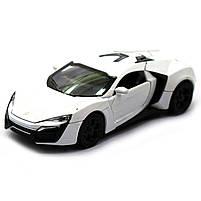 Машинка ігрова автопром «Lykan Hypersport» Біла, 14 см (32013), фото 3