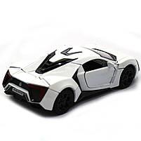Машинка ігрова автопром «Lykan Hypersport» Біла, 14 см (32013), фото 5