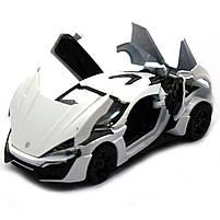 Машинка ігрова автопром «Lykan Hypersport» Біла, 14 см (32013), фото 6