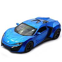 Машинка игровая автопром «Lykan Hypersport» Синяя 14 см (32013), фото 2