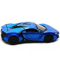 Машинка игровая автопром «Lykan Hypersport» Синяя 14 см (32013), фото 3